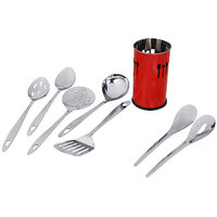 "Montstar 7pc Stainless Steel Kitchen Tool Set With ""Free""  Kitchen Tool Holder - 81921800"