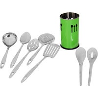 "Montstar 7 Pc Stainless Steel Kitchen Tool Set With ""Free""  Kitchen Tool Holder - 81922405"
