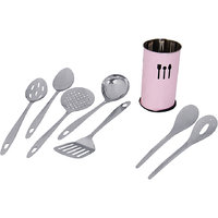 "Montstar 7 Pc Stainless Steel Kitchen Tool Set With ""Free""  Kitchen Tool Holder"