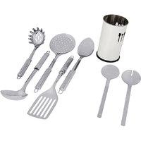 "Montstar 7pc Stainless Steel Kitchen Tool Set  With ""Free""  Kitchen Tool Holder"