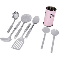 "Montstar 7pc Stainless Steel Kitchen Tool Set With ""Free""  Kitchen Tool Holder"