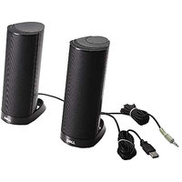 Dell AX210CR USB Stereo Speakers(Black, 2 Channel)