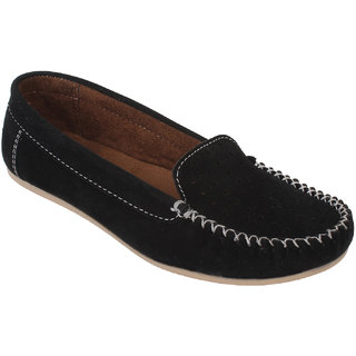 Authentic Vogue Black Velvet Loafer