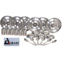 Airan 24 Pcs 100% Stainless Steel Dinner Set