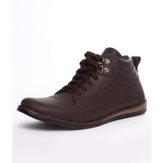 Shoe Island Men's Coffee Brown Ankle Length Casual Shoes
