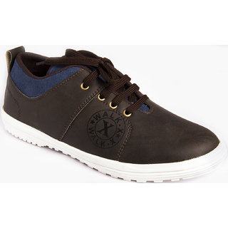 AZAZO Men Brown Lace Up Casual Sneakers