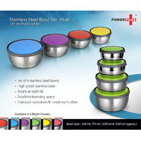Power Plus Stainless Steel Bowl Set ( 1 Set Of 4 Pcs )-H66