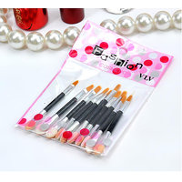 Lot Of 10Pcs Double-ended Disposable Eye Shadow Applicators Lip Brush Beauty Tools