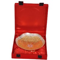 Home Decorative Gold & Silver Plated Brass Utility Bowl - 82319917