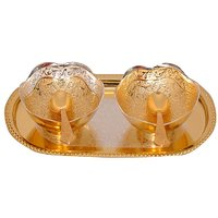Gold & Silver Plated Brass Bowl Set