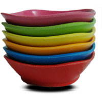Colorful Melamine Dip Bowls Set Of 6 (small)