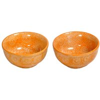 Mustard Yellow Ceramic Bowls (Set Of 2)