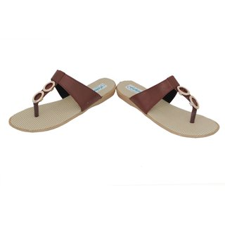 Frankfurt Brown Thong Daily Wear Comfortable Flat