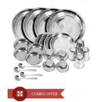 Kitchen Pro 24 PCs Stainless Steel Dinner Set