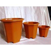 "Heavy Duty Designer Garden Pot Planter Octagonal SIZE 10"" Pack Of 12"