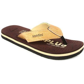 Santini Health Brown Beige SLIPPER FOR MEN