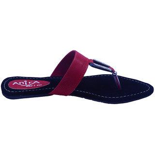Anira -Beautiful Black & Red Sandals For Women & Girls (Formal & Casual)
