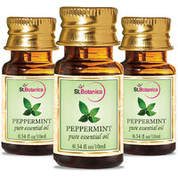 StBotanica Peppermint Pure Aroma Essential Oil 10ml - 3 Bottles