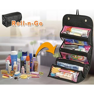 Roll-N-Go Cosmetic Bag Organizer / Toiletries Bag Organizer - 82696652