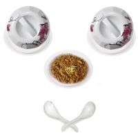 Set Of 3 Bowls With 2 Lid And 2 Free Spoon