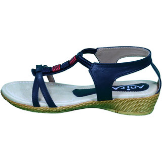 Anira Fashion- Stylish Black  Sandals  / For Women And Girls (Formal & Casual)