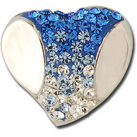 Exxotic Fashionable Heart Shape 925 Sterling Silver Blue And White Color American Diamond Pendants