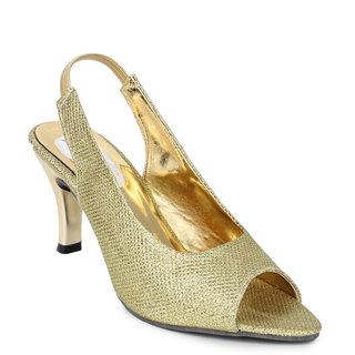 Do Bhai -Women's Shimmer Gold Heel