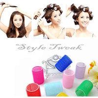 Style Tweak Soft Velcro Hair Rollers Curlers  Set Of 6