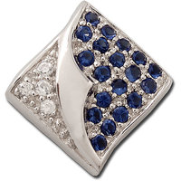 Exxotic Squre Fashion 925 Sterling Silver Blue And White Color American Diamond Pendants