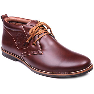 Footstamp Nice Brown Ankle Length Boot
