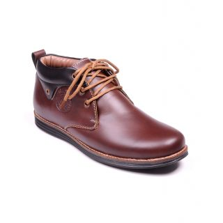 Footstamp Brown Ankle Length Boot