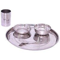 Zahab High Quality Stainless Steel-Bhojan Set 5 Pcs
