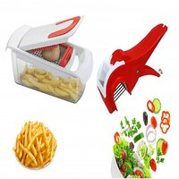 Patidar Polymers Fries And Salad Maker Combo Red
