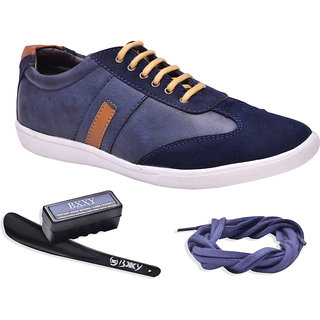 Bxxy Mens Blue Lace-Up Casual Shoes