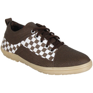 Black With Brown Check Casuals