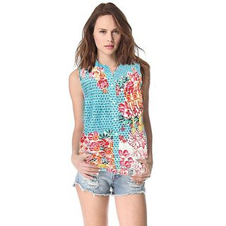 Stylish Soft Cotton Floral Print Shirt Free Size (Fits Bust Size Upto 36 Inches)