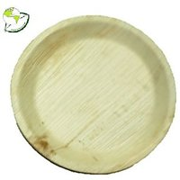 10 INCH DISPOSABLE ARECA LEAF PLATES (SET OF 10)