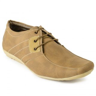 Foot N Style Tan Synthetic Leather Casual Shoes For Men (fs3120)
