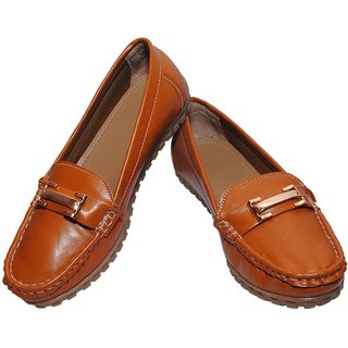 Richiee Tan Imported Faux Leather Moccasins