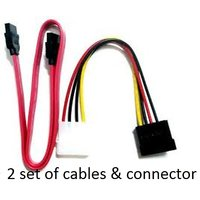 2 Set Of Sata Cables + Connector