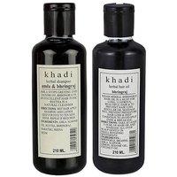 Khadi Herbal Amla & Bhringraj Shampoo And Khadi Bhrinjraj Hair Oil Comb 420 Ml