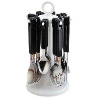Elegante 24 Pcs. Tablecraft Cutlery Set (Black)