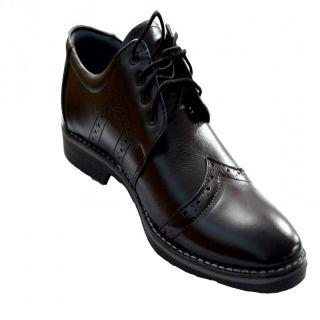 Designer Pure Leather Black Shoes For Men