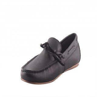 Totes Gallore Pure Black Slip On Loafers For Men