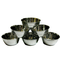 Stainless Steel Bowls Set Of 6 Bowls