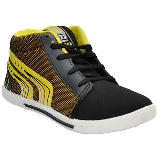 Kizashi Black And Yellow Casual Shoes