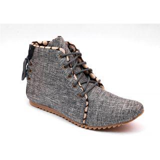 Skylark Silver Jute Casual Shoes