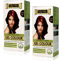 Indus Valley Permanent Herbal Hair Colour Burgundy 3.6 Kit (Set Of 2)