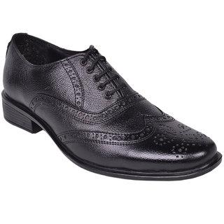 D4U Pure Leather Black Lace Up Shoes