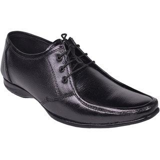 D4U Pure Leather Black Lace Up Shoes - 83801441